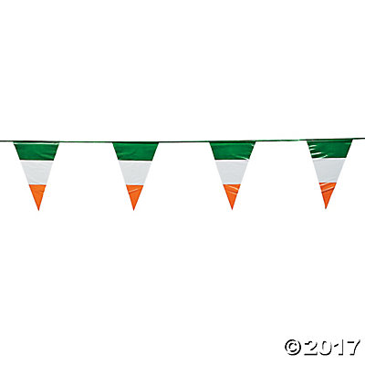 Irish Flag Plastic Pennant Banner