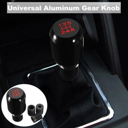 Shifter Console Auto Stick (Car 5 Speed Manual Gear Shift Knob Stick Gearstick Shifter w/ 8mm 10mm 12mm Adapter Black Vehicle Auto SUV Truck Aluminum Alloy MATCC)