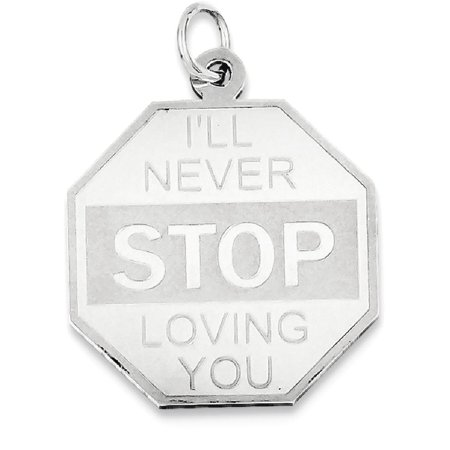 (ICE CARATS 925 Sterling Silver Ill Never Stop Loving You Pendant Charm Necklace Love Talking Fine Jewelry Ideal Gifts For Women Gift Set From Heart)