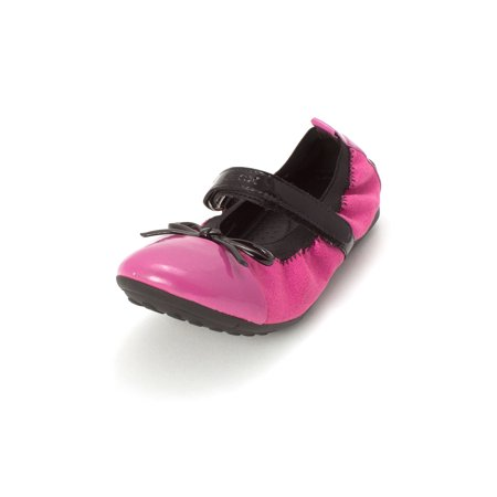 Kids Geox Girls J Piuma Slip On Ballet Flats, Fuchsia, Size 3 Us ()