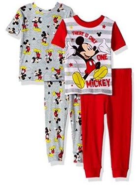 c12647a1b Product Image Disney Toddler Boys' Mickey Mouse 4-Piece Cotton Pajama Set