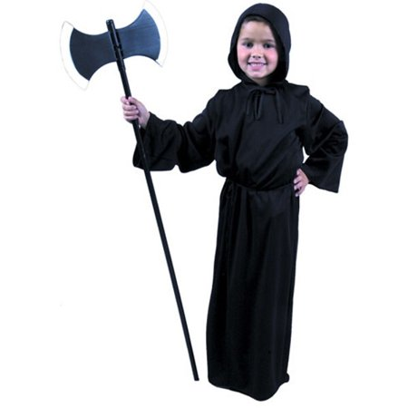 Ghoul Robe (Child's Ghoul Robe Costume~X-Large 12-14 / Black)
