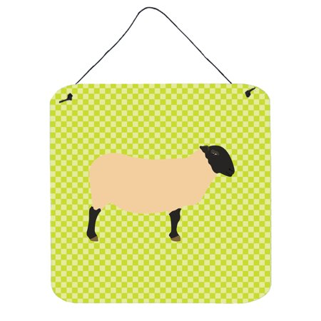 Suffolk Door - Suffolk Sheep Green Wall or Door Hanging Prints BB7798DS66
