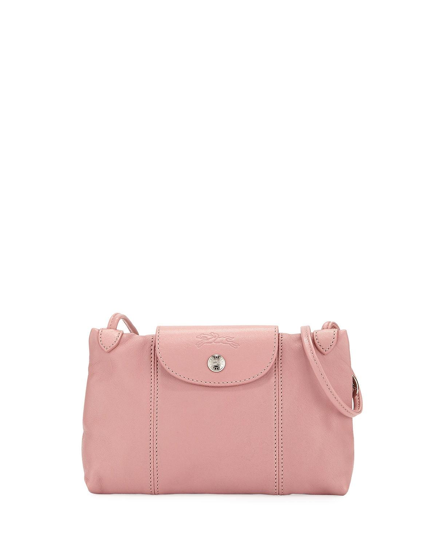 Longchamp Women's Leather Le Pliage Cuir Crossbody Bag Blush - Walmart.com