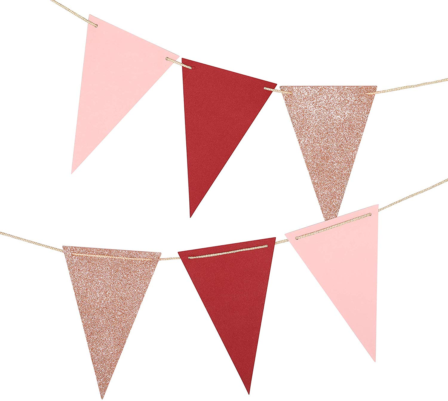 Paper Pennant Decorations Triangle Flags Bunting Garland For