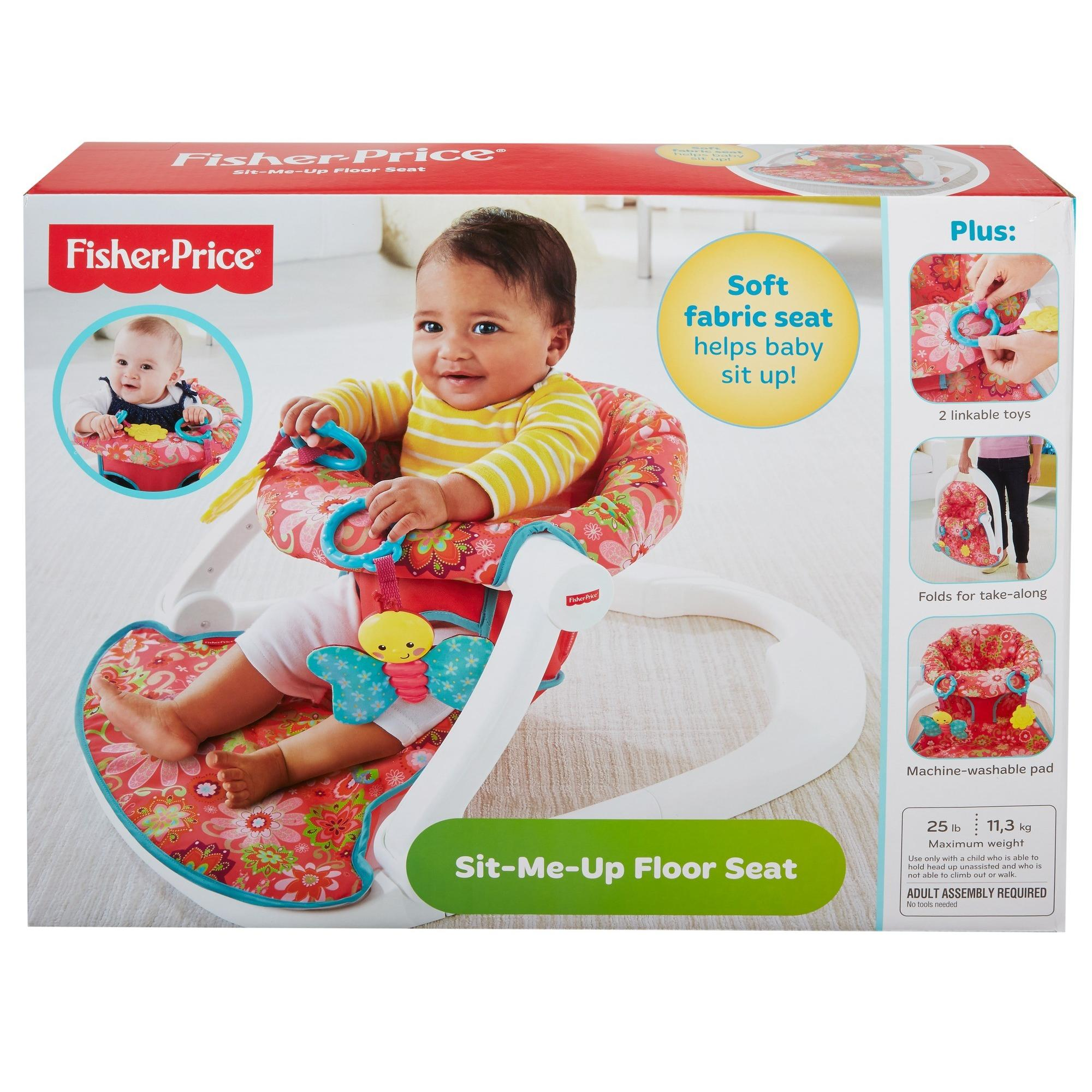 Fisher Price Sit Me Up Floor Seat Girl Walmart