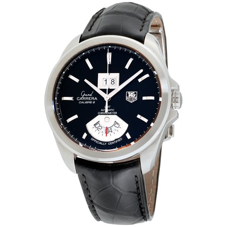Tag Heuer Grand Carrera Black Dial Leather Strap Men's Watch