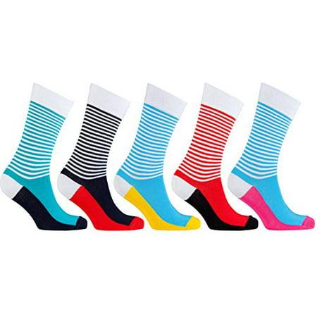 7b8e544eb4ce0 socks n socks - Socks n Socks - Men's 5-pairs Luxury Cotton Cool Funky  Colorful Fashion Designer Fun Patterned Dress Socks with Gift Box -  Walmart.com