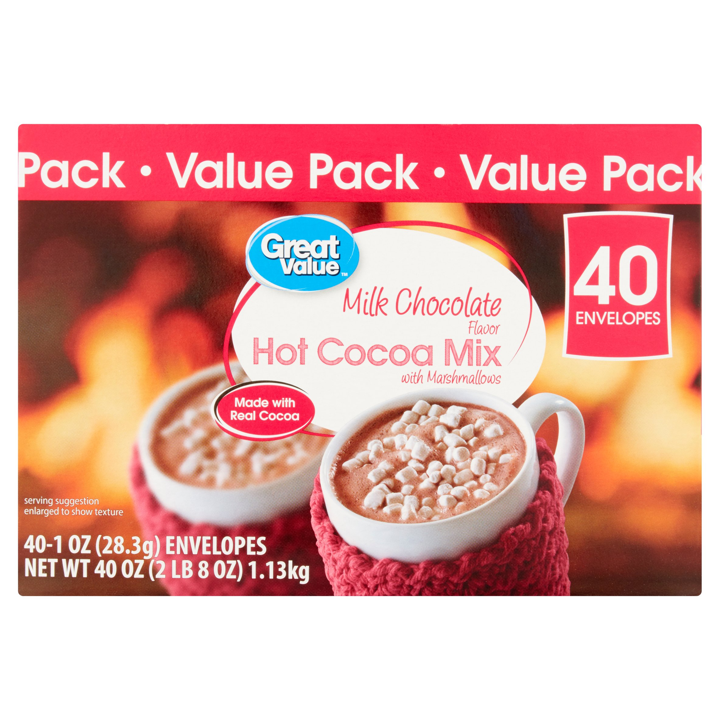 Great Value Hot Cocoa Mix, Milk Chocolate with Marshmallows, Value Pack, 40 Count by Wal-Mart Stores, Inc.