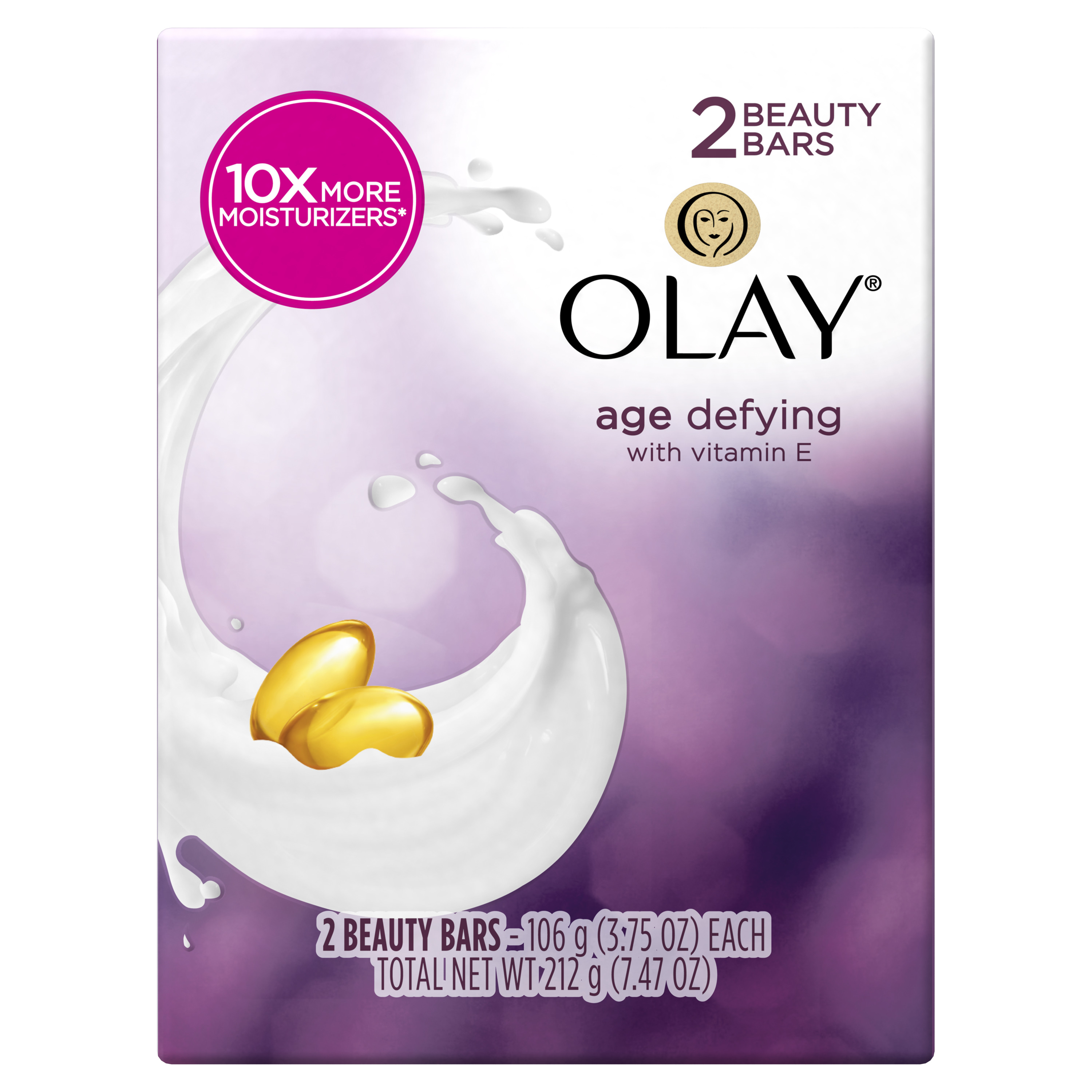 Olay Moisture Outlast Age Defying Beauty Bar 3.75 oz, 2 count