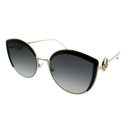 Fendi FF0290/S 0807/9O Black Cat Eye (Fendi Cat Eye Sunglasses)