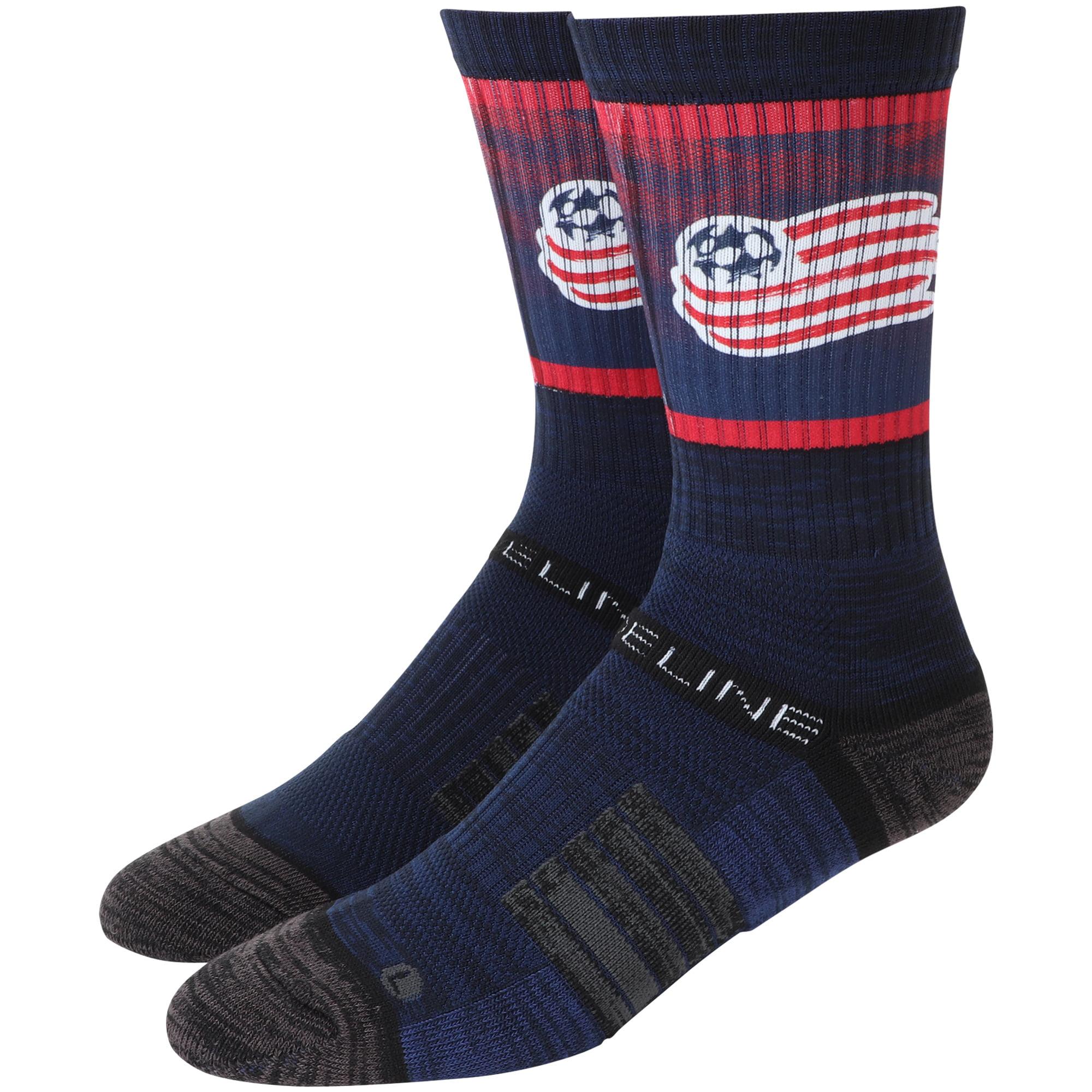New England Revolution Team Logo Crew Socks - Navy - OSFA