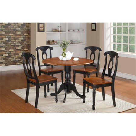 5 Piece Small Kitchen Table Set-Table and 4 Dinette Chairs
