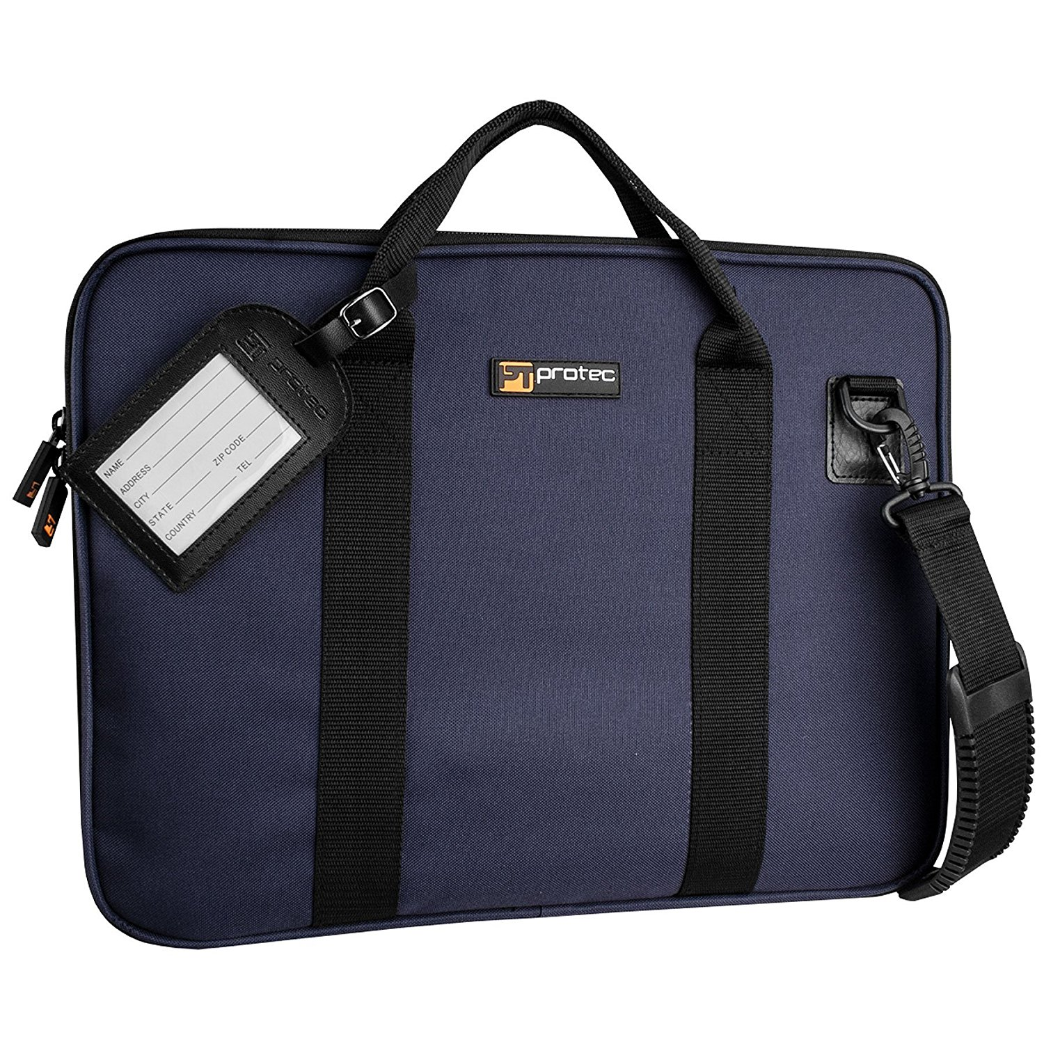 Music Portfolio Bag - Blue, 3 interior pockets for sheet music By ProTec Ship from US