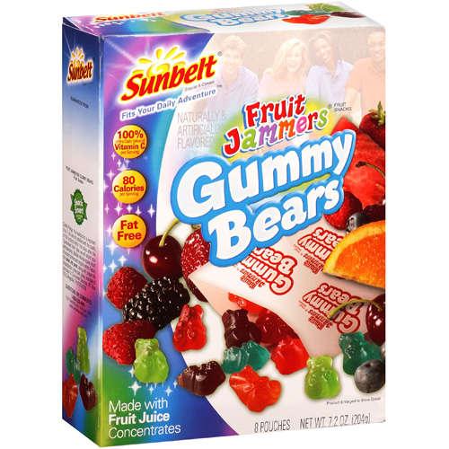 Fruit Jammers: Fruit Snacks Gummy Bears, 8 Ct