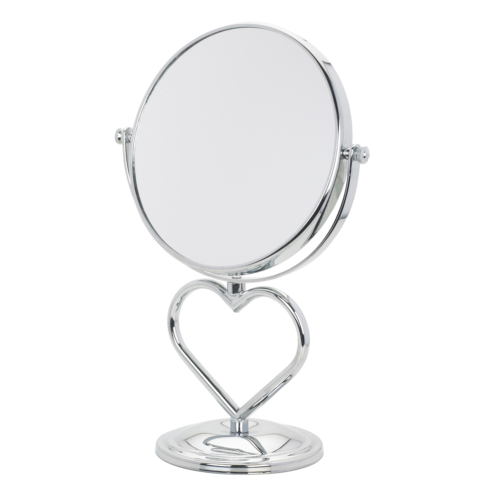 Danielle Heart Shaped Vanity Mirror, Chrome by Upper Canada Soap