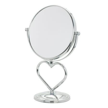 Danielle Heart Shaped Vanity Mirror, Chrome