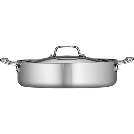 Covered Braiser - Tramontina 5-Qt Stainless Steel Tri-Ply Clad Covered Braiser