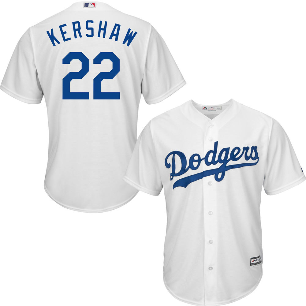 Men's Los Angeles Dodgers Clayton Kershaw White Home Cool Base Player Jersey by