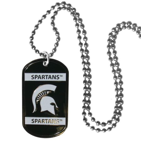 NCAA Michigan State Spartans Tag Necklace, 26