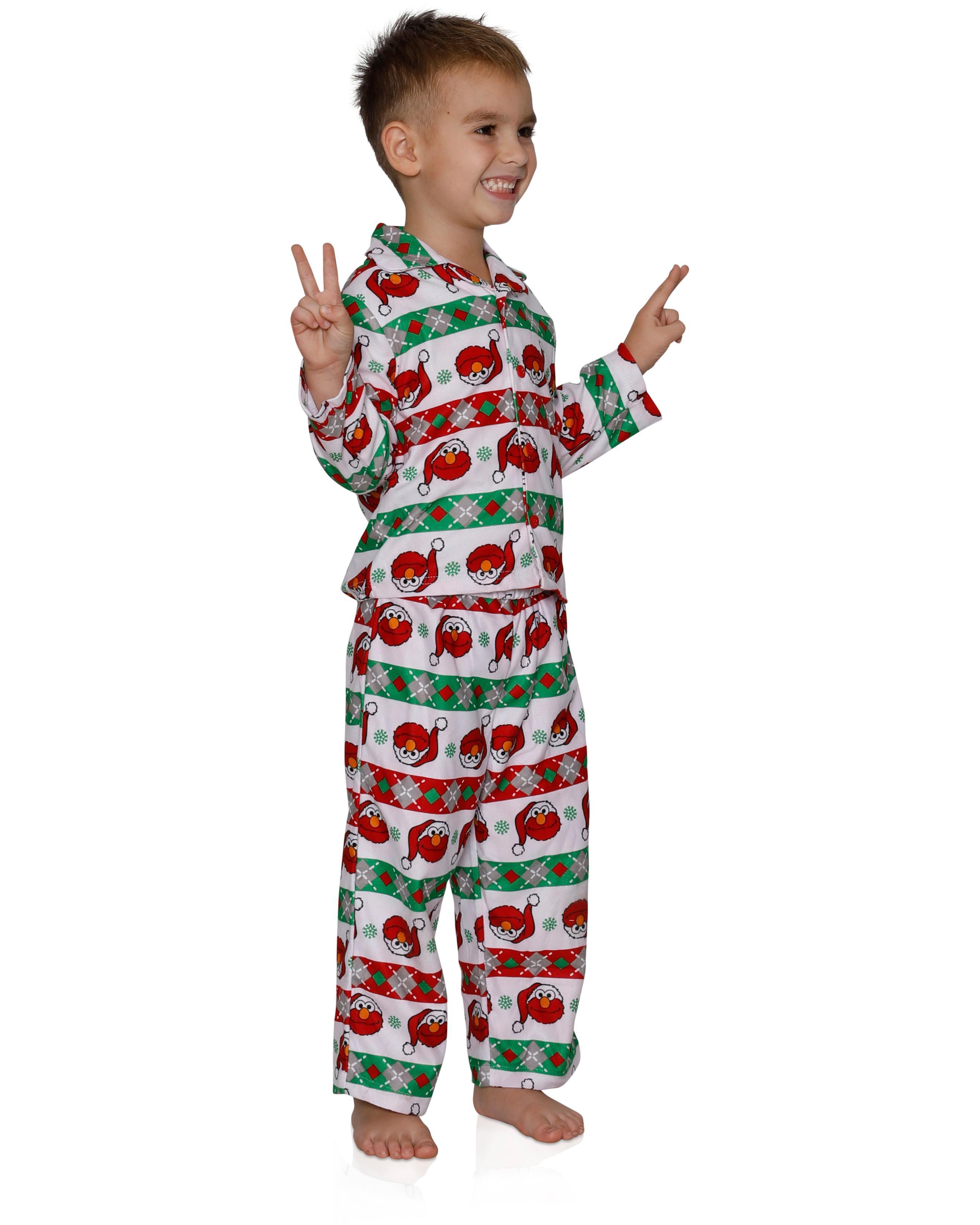 Sesame Street Toddler Boy/'s Elmo Striped Pajama Sleeper