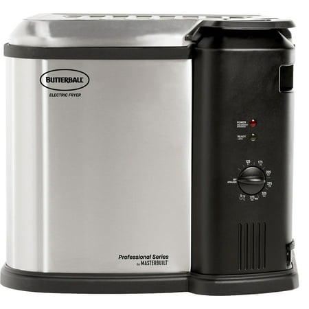 Masterbuilt Butterball XL 1650W Electric 20 lb Turkey Fryer, Stainless