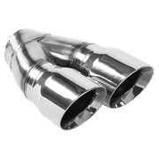 MagnaFlow Double Wall 3in Dual Round Polished Tip 2.25in Inlet