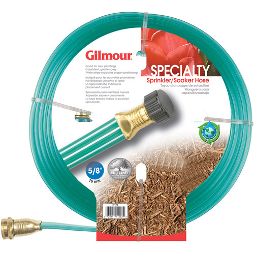 Gilmour 27141 25' Flat Three Tube Sprinkler/Soaker Hose