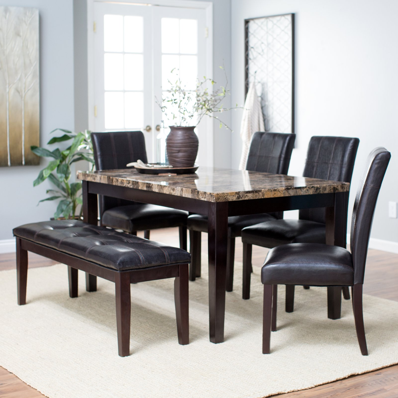 Finley Home Palazzo 6 Piece Dining Room Set with Bench by Weicheng (HK) Industrial Trade Co Ltd