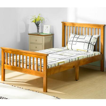 Bedroom Oak Footboard (Harper&Bright Designs Twin Wood Platform Bed with Headboard and)