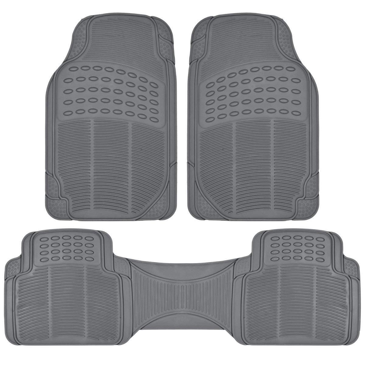 Heavy Duty Car Floor Mats - Universal for Car Truck SUV - Full 3pc Set in Gray