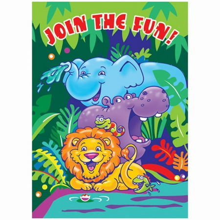 Smiling Safari Invitations, 8ct By Unique Industries - Safari Themed Invitations