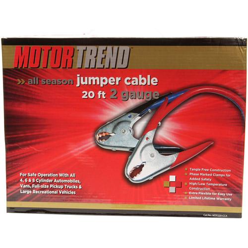 Motor Trend 2-Gauge 500 Amp Parrot Clamp Jumper Cables