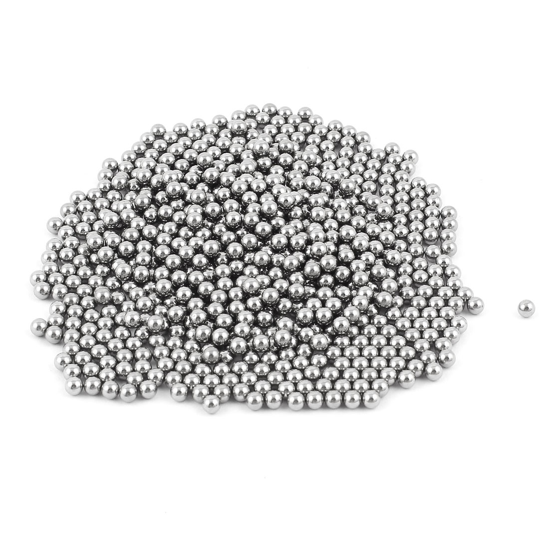 Silver Tone 4mm Bearing Steel Balls Bicycle Bike Spare Parts 750 Pcs
