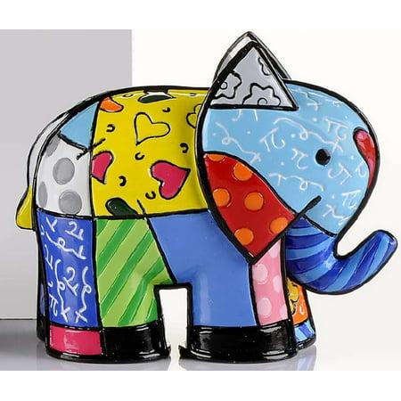 Romero Britto Miniature Elephant Animal Pop Art Figurine 331843 New - Miniature Elephant Figurine