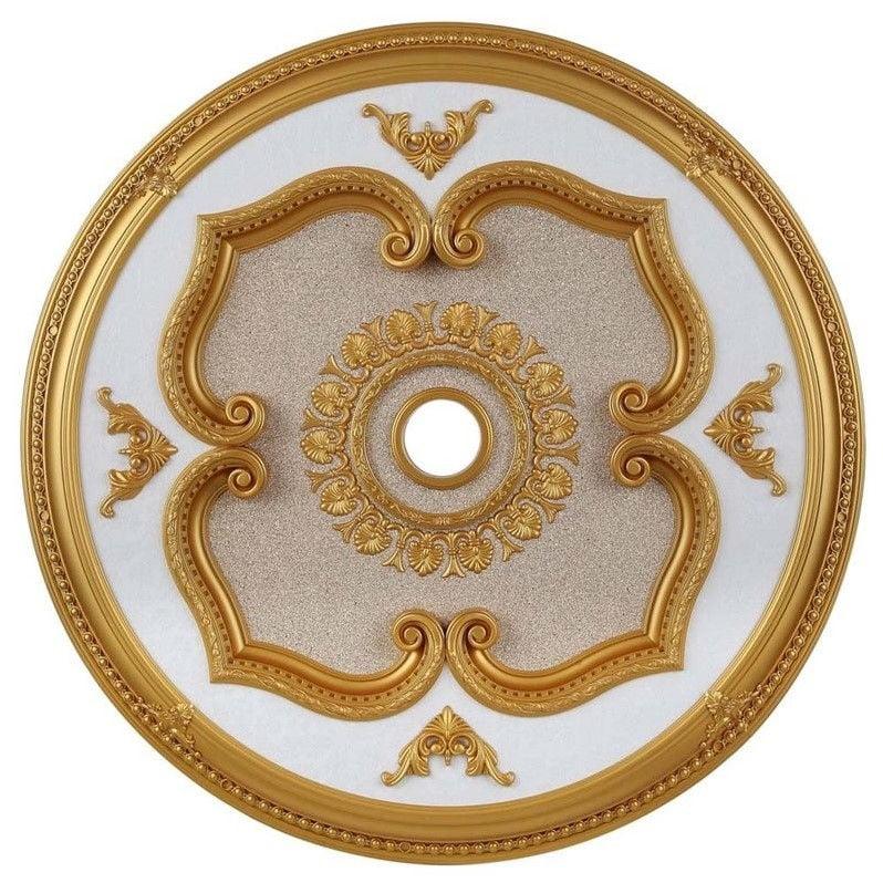 """Elegant Lighting 43"""" Medallion Ceiling Canopy in Gold"""