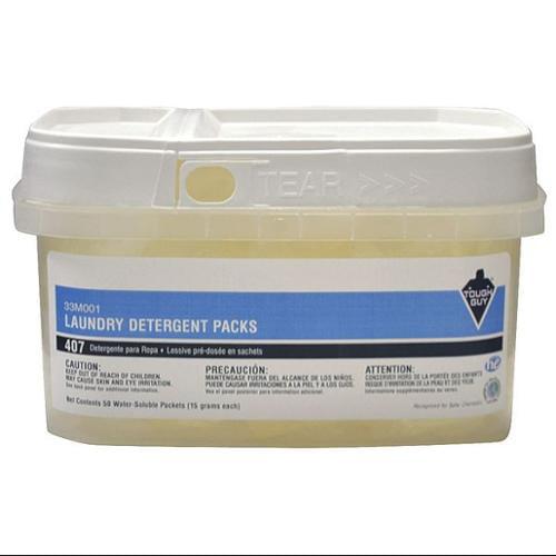 Tough Guy 33M001 50 Packs Per Tub Transparent High Efficiency Laundry Detergent Tub