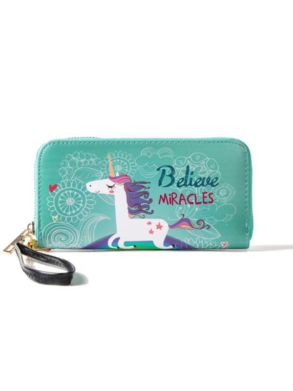 Meigar Women Long Leather Wallet Clutch Purse Card Holder Phone Zipper Handbag