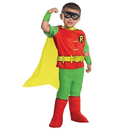 DC Comics - Robin Deluxe Toddler Costume - Comic Con Group Costumes