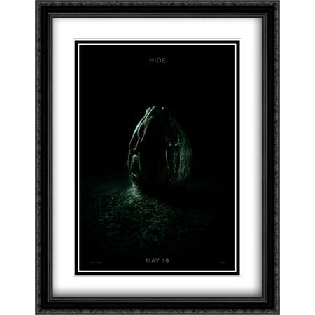 Alien  Covenant 28X36 Double Matted Large Large Black Ornate Framed Movie Poster Art Print