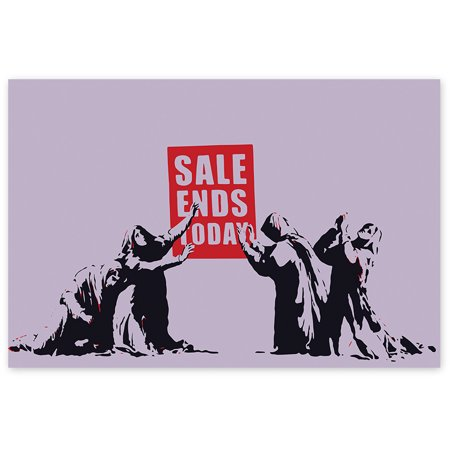 Awkward Styles Sale Ends Banksy Printed Poster Decor Street Art Banksy Fans Gifts Banksy Poster Room Art British Street Art Unframed Art Picture Graffiti Art for Office Decor Sale Poster Art Find a perfect gift for an art lover with our Banksy Art Printed Poster Collection!