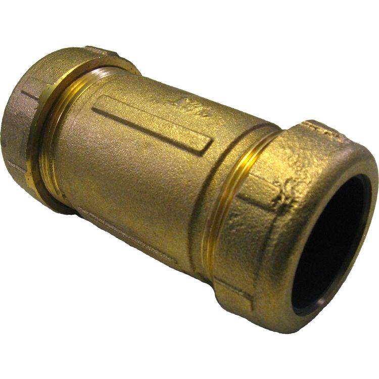 "PASCO 1-1/2"" IPS Brass Dresser Coupling"