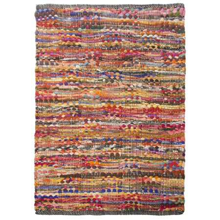 2x3' Cotton Rag Rug Multi Chindi Distressed Woven Small Area Rug Living Room & Home Décor ()