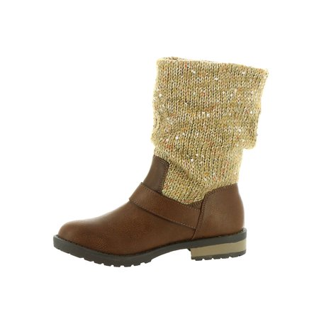 Kids Jessica Simpson Girls Summit Mid-Calf Pull On Snow Boots (Snow Summit)