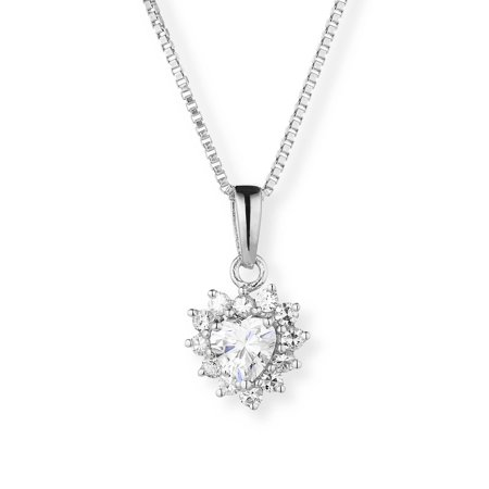 pendant moissanite p chain cushion with
