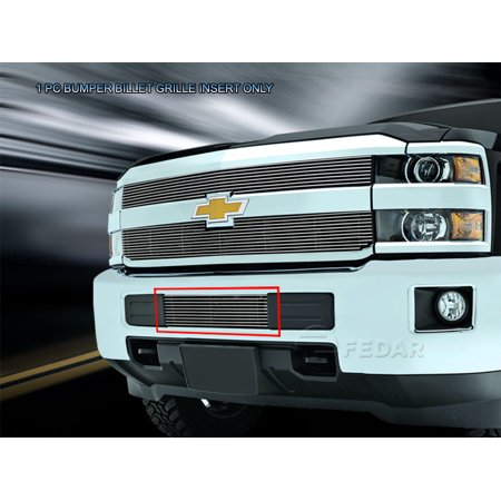 Fedar Lower Bumper Billet Grille For 2015-2016 Chevy Silverado 2500HD/3500HD (Silverado Billet Grille)