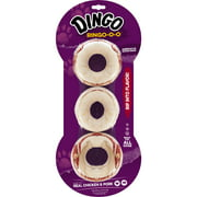 Dingo Ring-o-o Chews for Dogs Made with Real Chicken, 3-Count