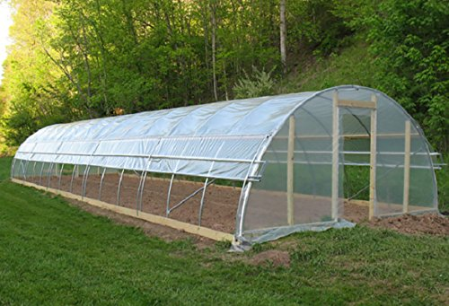 Agfabric 5 5mil Plastic Covering Clear Polyethylene Greenhouse Film Uv Resistant For Grow Tunnel And Garden