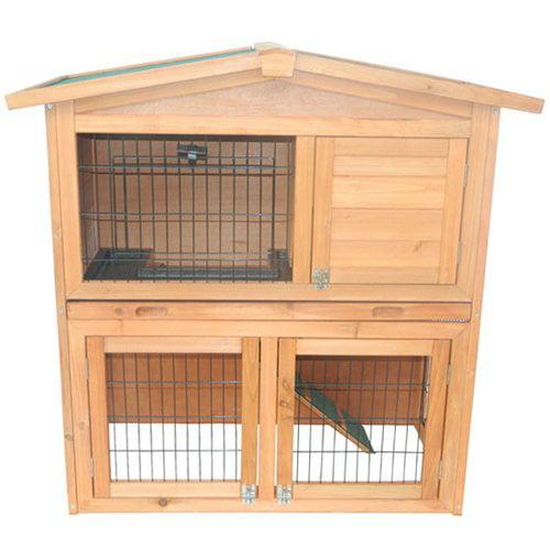 Tucker Murphy Pet Hardy 40'' Wooden Rabbit Hutch Small Animal House Pet Cage