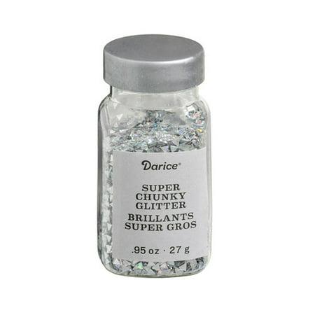 Super Chunky Triangle Glitter: Silver, .95 ounces](Silver Gliter)